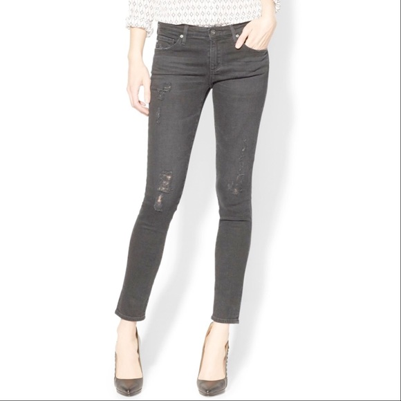 03b59d67ce0bf Ag Adriano Goldschmied Denim - AG Legging Ankle Emerse Destroyed Gray  Skinny Jean