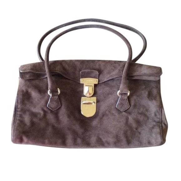 984ffd48e7 Prada EUC Vintage Brown Suede Handbag. M 59e41d366d64bc6c160a32f0