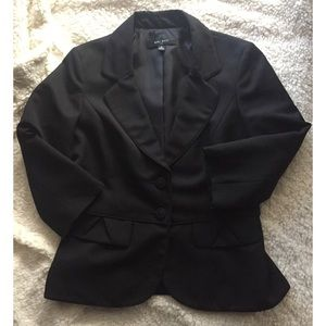 Nine West Fitted Blazer 3/4 Length Sleeves Modern