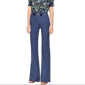 Tory Burch Blue Flare Trousers