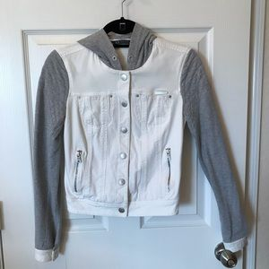 Armani Exchange white gray jacket