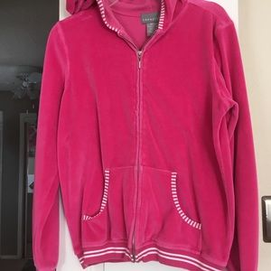 Medium ladies sweatsuit. Veloure., hot pink.