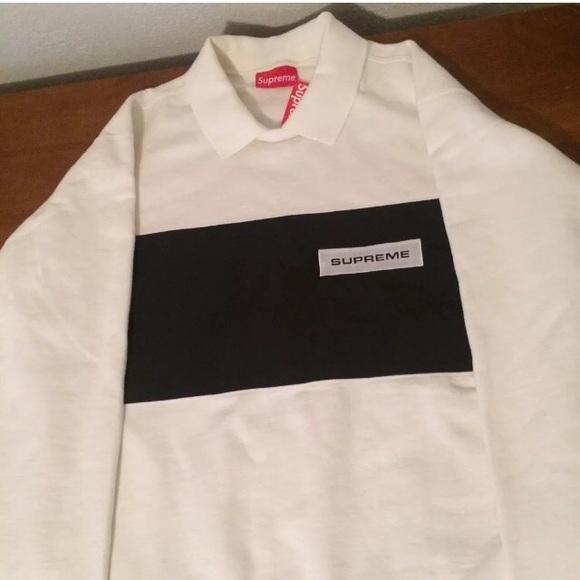 451605018 Supreme polo crewneck (white)