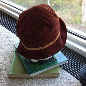 c4796ae53b3 Coach Accessories - Coach rust suede hat M-L