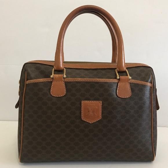 2aa489e1f119 Celine Handbags - Vintage Celine Macadam satchel