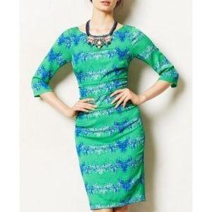Tracy Reese emerald city sheath dress Sz 10