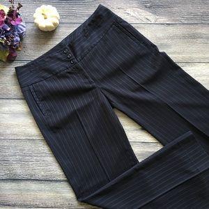 CAbi Pinstripe Trouser Wide Waistband black/blue 8