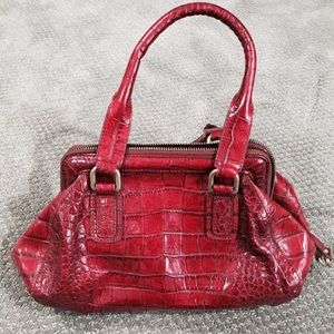 "Cole Hahn Red  ""Alligator"" Purse"