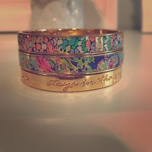 Set of 3 Lilly Pulitzer bangle bracelets