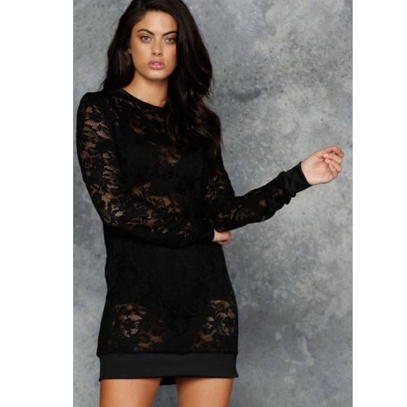 Blackmilk Dresses Black Milk Lace Sweater Dress Poshmark