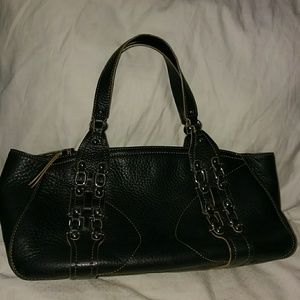 Cole Haan Black Leather Satchel