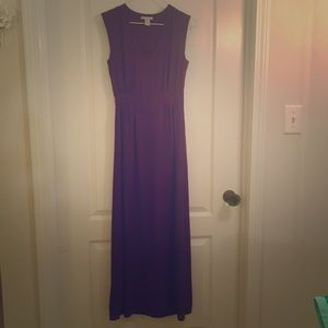 H&M deep purple maxi dress