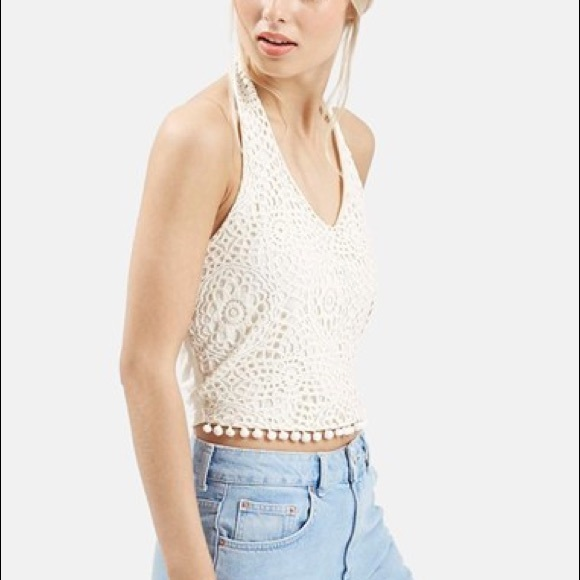 ffdf6ad05 Topshop Crochet Halter Crop. M_59e1308b620ff79a2100afcc