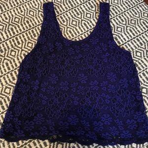 Topshop blue lace tank top