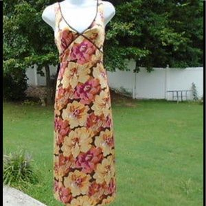 J. Crew Silk Floral Fully Lined Maxi Dress Size 2