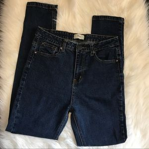 TOBI high waisted dark wash jeans