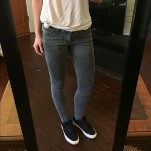 Current Elliott Pattern Skinny Jeans