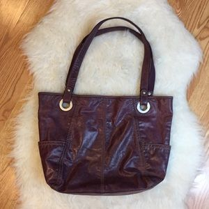 """Fossil """"Long Live Vintage"""" Leather Tote"""