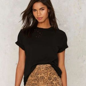 Nasty Gal After Party Black Tee