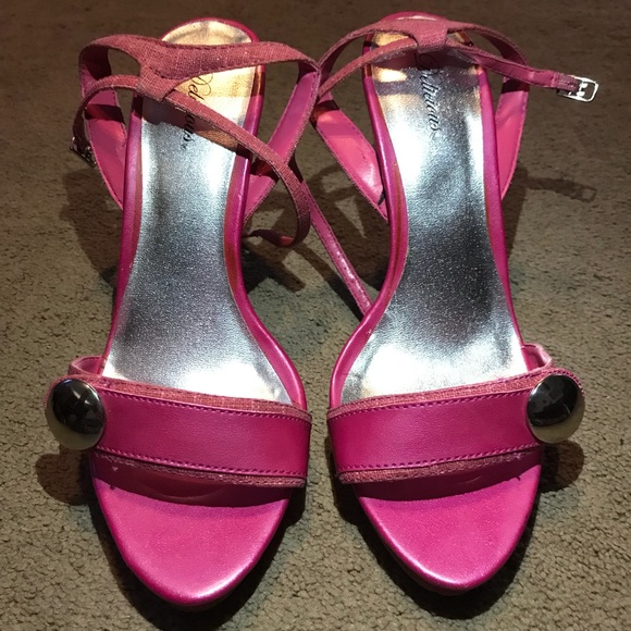 0d2f4ac6c03 Delicious Hot Pink Ankle Strap Heels