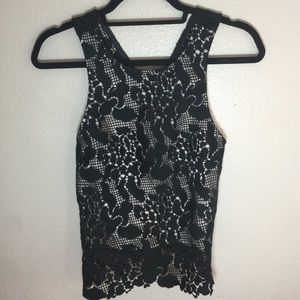 NWT TOPSHOP Lace Cross Back Top