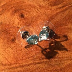 Jewelry - SALE Topaz Sky Blue Sterling Silver Studs