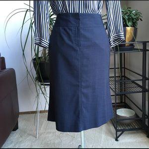 Theory Wool Blend Pencil Skirt Blue-Gray 0 XS