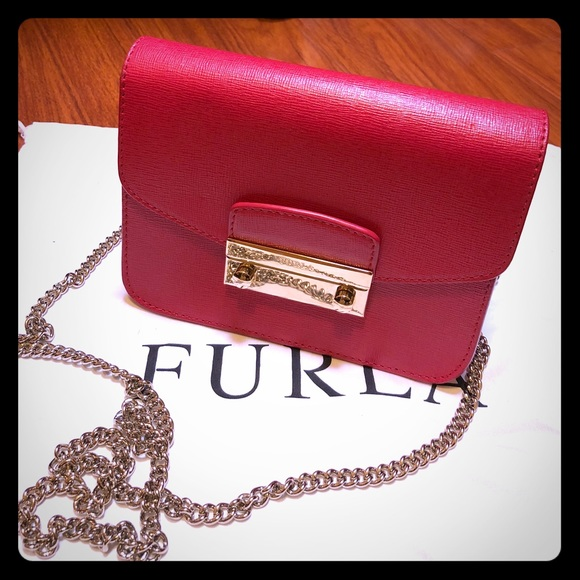 Makeup Bag Cosmetic Case for Women On Sale, Ruby, Leather, 2017, One size Furla