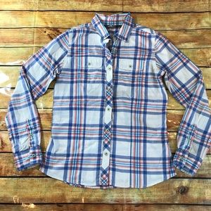 North Face Baylyn Plaid Button Down Shirt Small