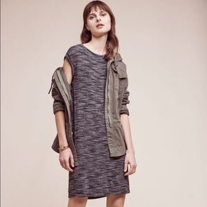 NEW Anthro Cloth & Stone striped melange tee dress