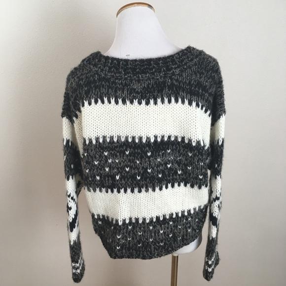 Free People - Free People Fair Isle Nordic Cropped Sweater Small ...