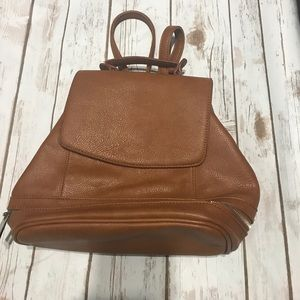 Sole Society Cognac Backpack/Purse