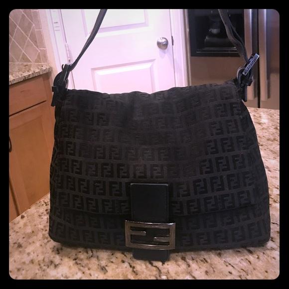 d401342ff10 real authentic fendi zucca canvas forever mama handbag b4417 c5247