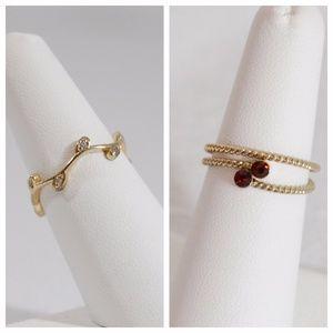 Jewelry - SET / BUNDLE: Vine & Twist Rings