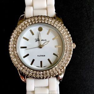 White Crystal Watch