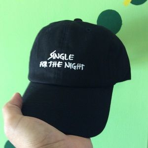 f56958b93b0 Accessories - Single for the night dad hat NWT