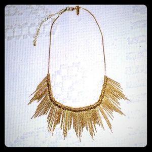 NORDSTROM Gold Sunburst Bib Collar Necklace