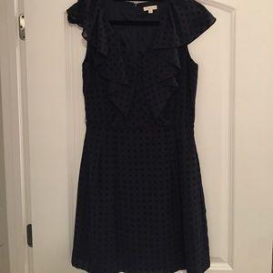 Shoshana Navy Dress w/ Ruffles