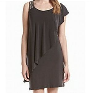 Betsy & Adam Jeweled Shoulder Dress Women's Sheath