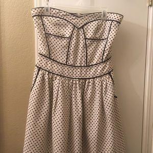 Polka dots strapless dress ❤️