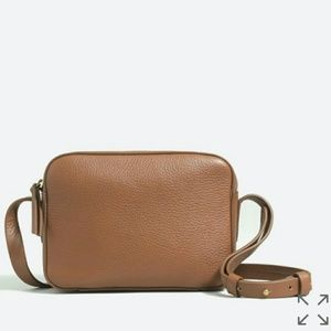 J. Crew Leather Mini Crossbody Bag Purse TAN