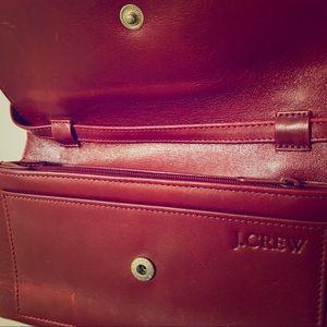 J CREW Leather Mini Red Clutch