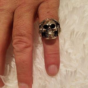 Radio Head Skull Ring