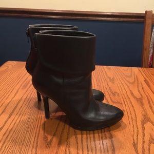 Lauren Ralph Lauren black leather heeled boots
