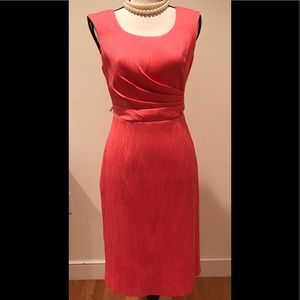 NWT Kay Unger coral dress with jacket