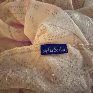 Stella&Dot blush & gold Westwood scarf