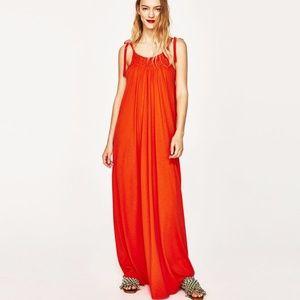 Zara Women's Long Strappy Maxi Dress
