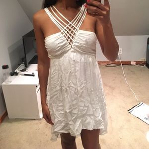 High low white dress