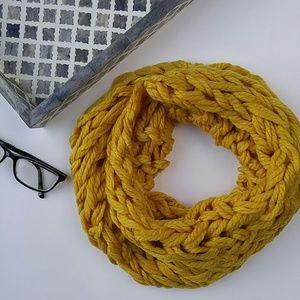Accessories - Mustard yellow braided snood