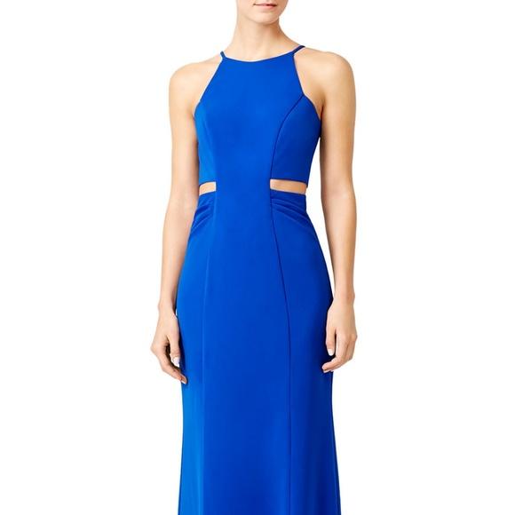 Badgley Mischka Dresses | Royal Blue Keena Maxi Dress Petite | Poshmark